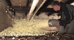 Afbeelding uit bedrijfsvideo DroCom vloerisolatie