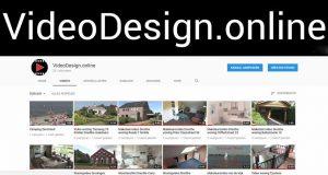Afbeelding van het YouTube kanaal van VideoDesign.online met tientallen bedrijfsvideo's