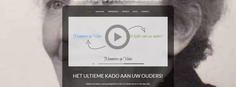 Afbeelding van de website Memoires op Video