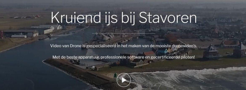Screenshot van website Video van Drone