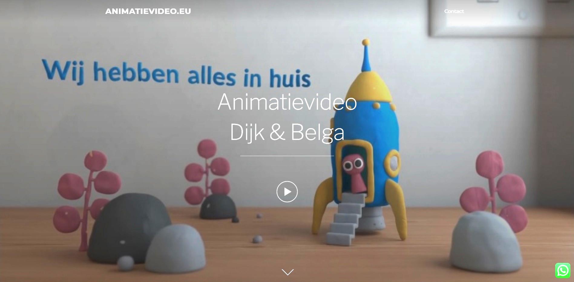 Afbeelding van de website Animatievideo.eu
